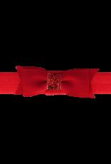 Your Little Miss Baby haarbandje met strik red & sparkle