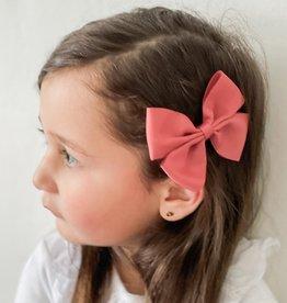 Your little miss Your little Miss  Haarspeldje met strik large rosy mauve