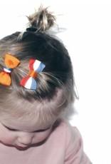Your little miss Your Little Miss Koningsdag baby haarspeldje rood wit blauw