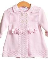 Blues baby Blues Babywear roze gebreid vestje