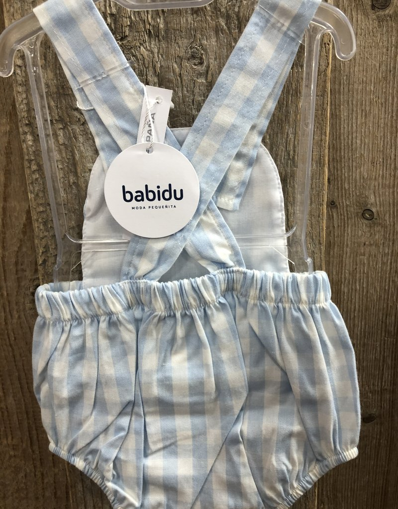 Babidu Babidu broekje blauw ruitje