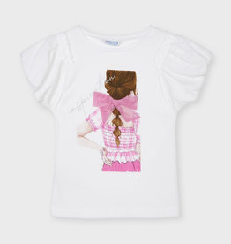 Mayoral Mayoral s/s t-shirt girls on pink - 21 06002