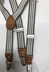 Bretels licht grijs met witte strepen