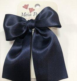Meia Pata Meia Pata Hair Tie Satin Bow 14 Navy Blue