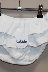 Babidu Babidu JAM PANT WITH FRILLS WHITE-30265
