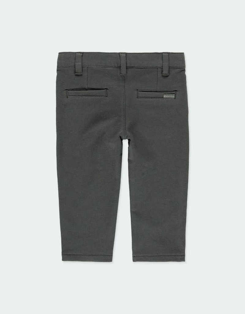 Boboli Boboli Stretch fleece trousers for baby boy lead 710008