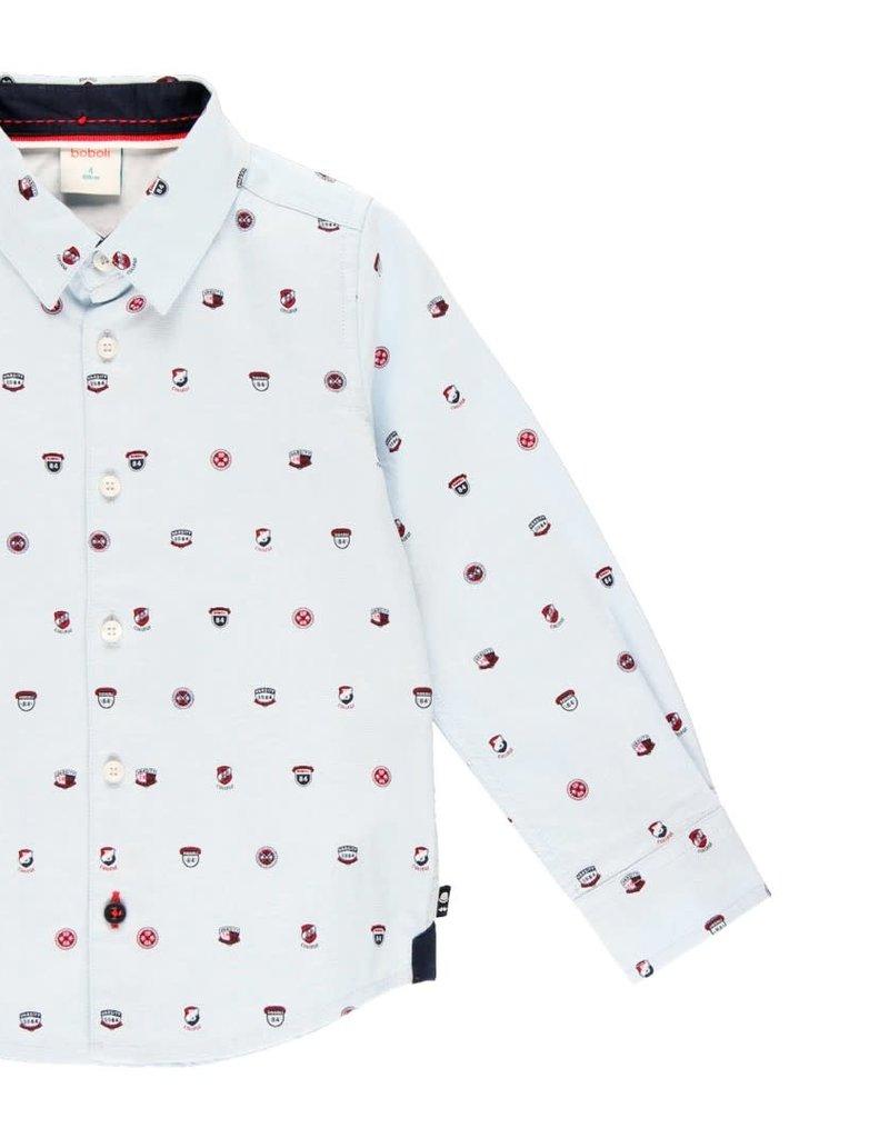 Boboli Boboli Oxford long sleeves shirt for boy print 733036