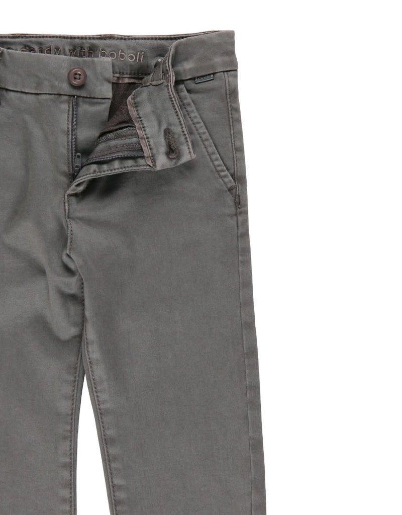Boboli Boboli Stretch satin trousers for boy lead 733047