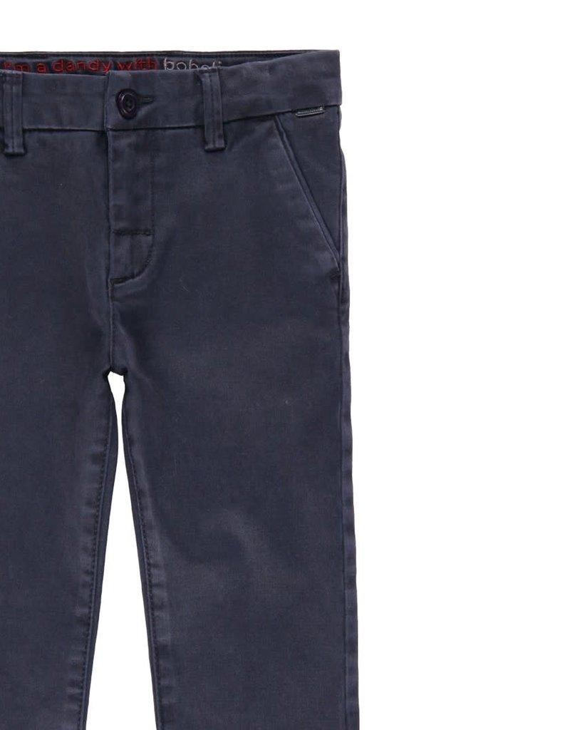 Boboli Boboli Stretch satin trousers for boy NAVY 733306