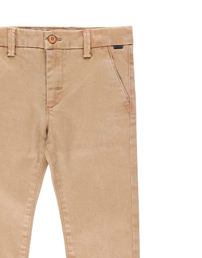 Boboli Boboli Stretch satin trousers for boy beig 733306