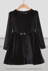 Abel & Lula Abel & Lula Polka dot velour dress Black - 21 05515