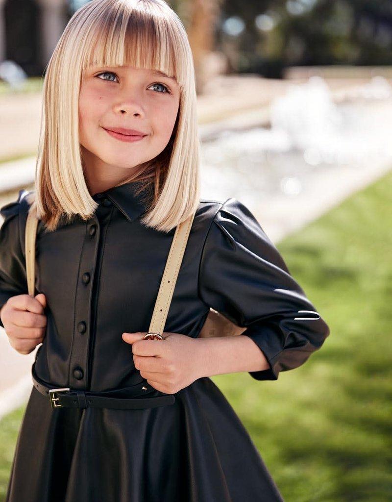 Abel & Lula Abel & Lula Leather dress Black - 21 05518