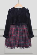 Abel & Lula Abel & Lula Plaid tulle skirt dress Navy - 21 05520