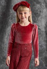 Abel & Lula Abel & Lula Velour shirt Carmine - 21 05616