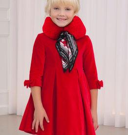 Abel & Lula Abel & Luna Velvet dress Red - 20 05574