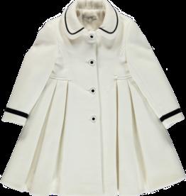 Piccola Speranza Piccola Speranza Coat off white /black