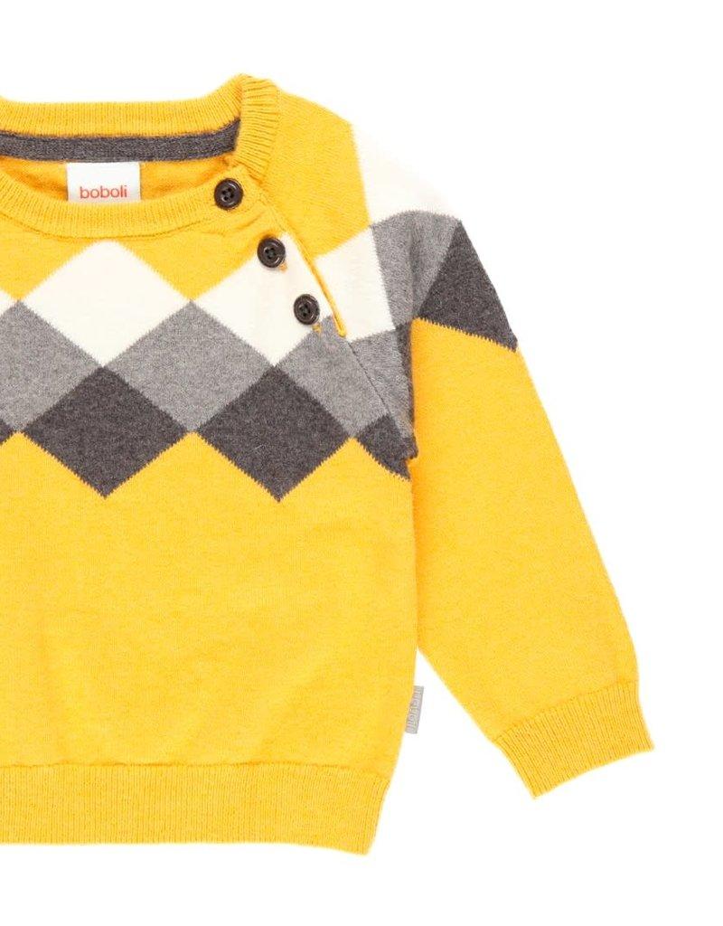 Boboli Boboli Knitwear pullover for baby boy ocher 713113