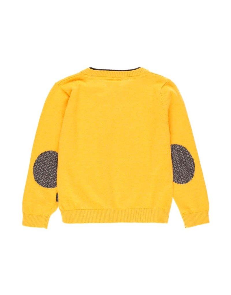 Boboli Boboli Knitwear pullover v-neck for boy ocher 733238