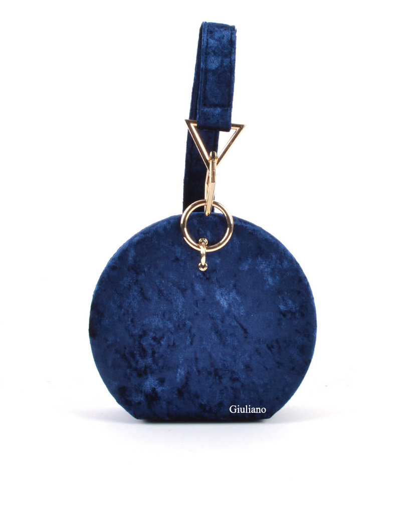 Tas/koffer donkerblauw fluweel