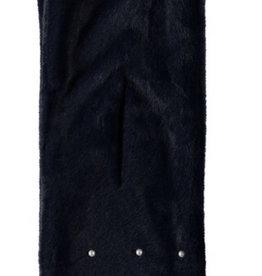 Le Chic Le Chic bontsjaal donkerblauw met parels