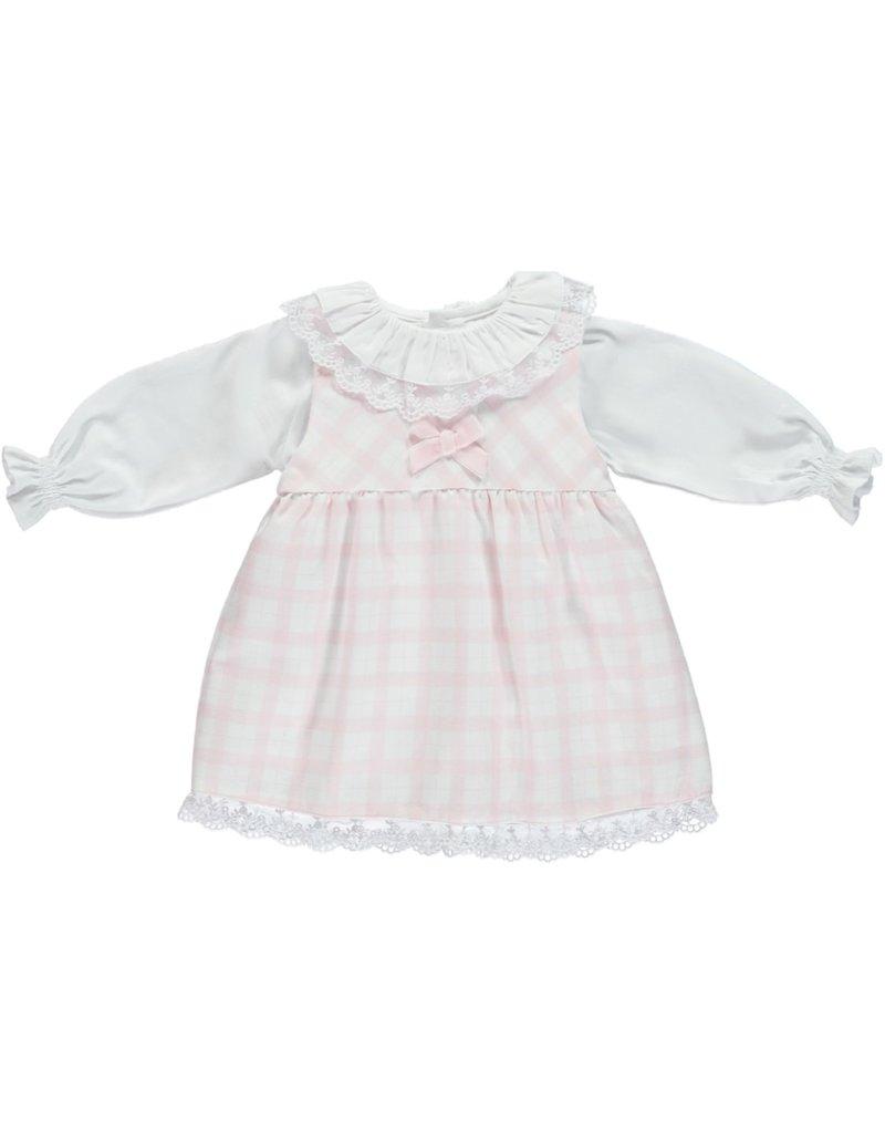 Deolinda Deolinda dress pink white set