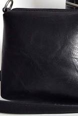 Tasje  zwart met gestreept hengsel