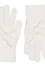 Condor Condor handschoen off white met fluwelen strikken