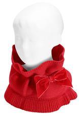 Condor Condor Sjaal rood met fluwelen strik
