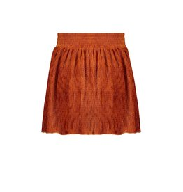 Nobell Nobell Nele crincle velvet skirt with placket at front Q108-3701 Piment