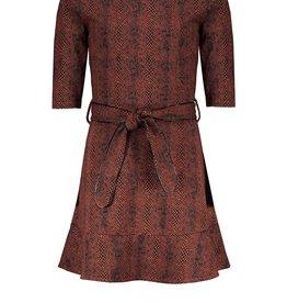 Nobell Nobell Mikky half sleeved dress in Crocodile AOP Q108-3801 Piment