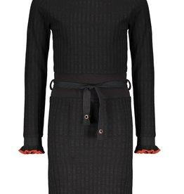 Nobell Nobell Maddy rib dress with high waist Q108-3803 Jet Black