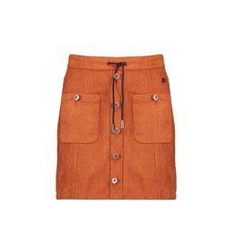 Nobell Nobell Nicka short skirt with buttons and pockets at front Q109-3703 Cinnamon