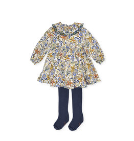 Tutto Piccolo Tutto Piccolo DRESS & TIGHTS Hortensia MULTICOULORED