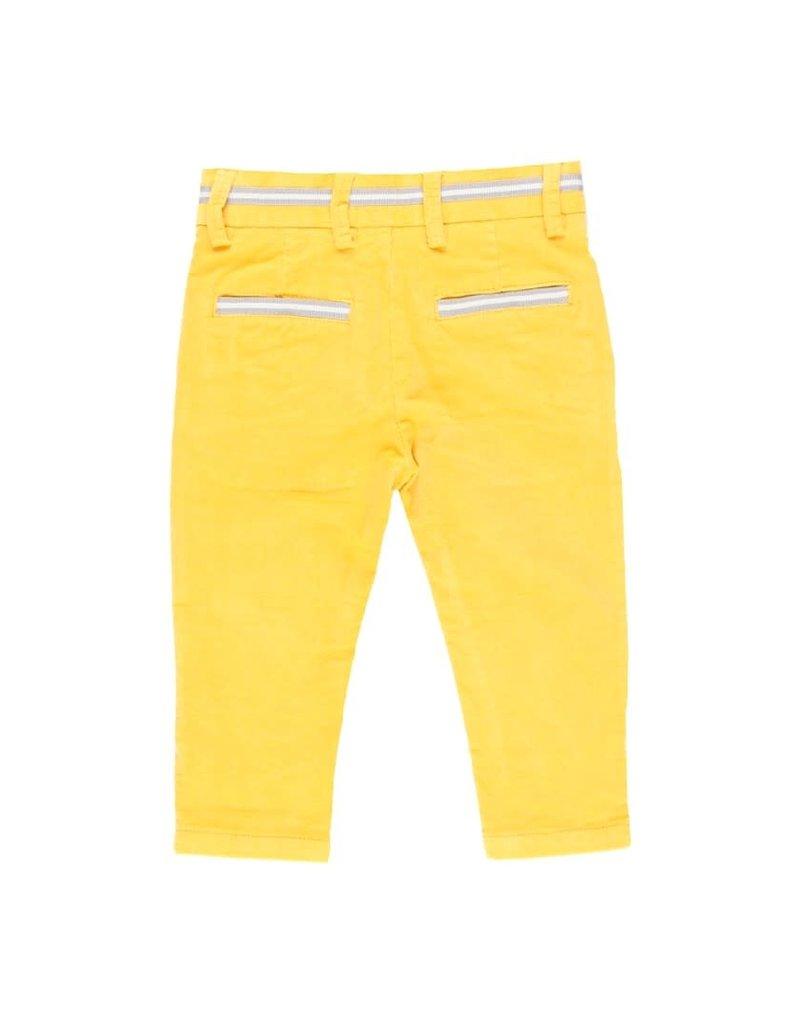 Boboli Boboli Microcorduroy trousers for baby boy ocher 713012