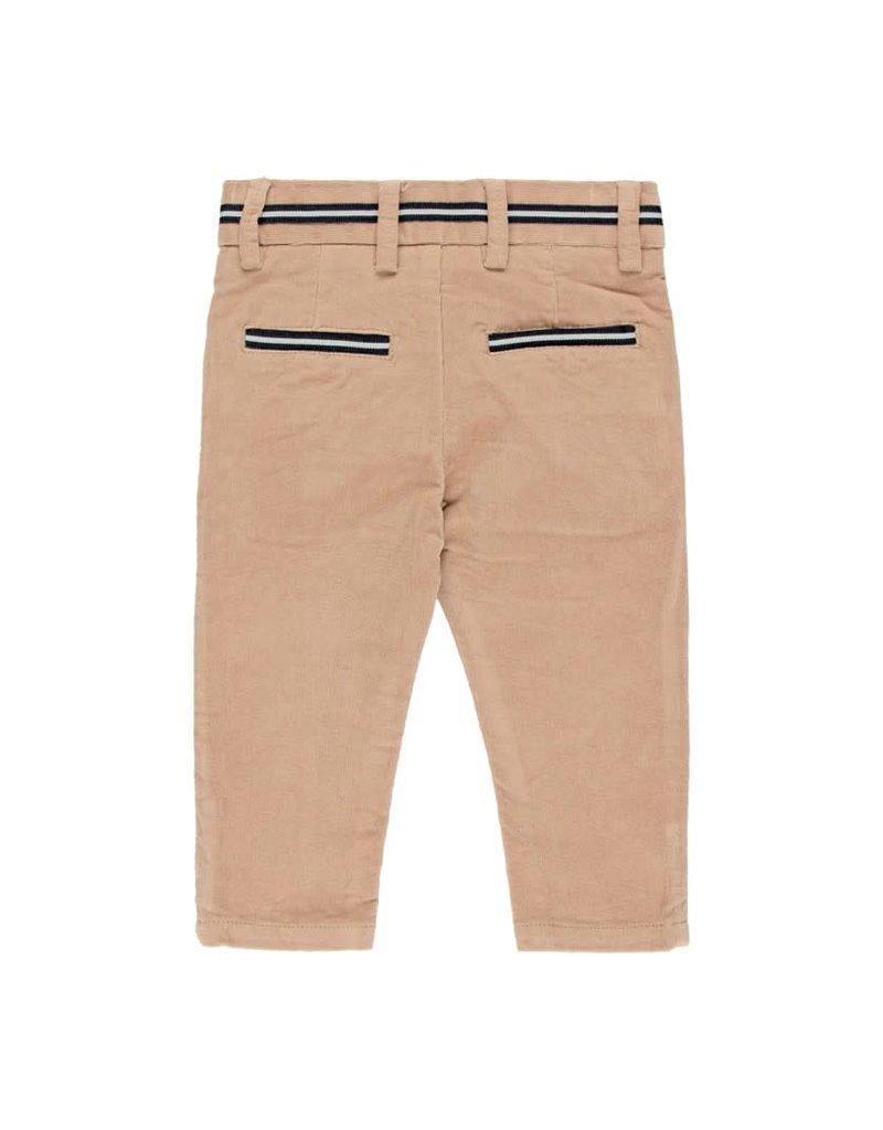 Boboli Boboli Microcorduroy trousers for baby boy beig 713012