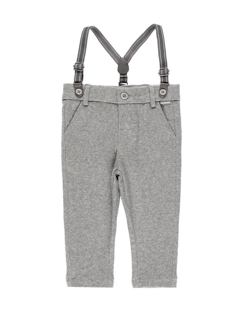 Boboli Boboli Knit trousers for baby boy grey 713078