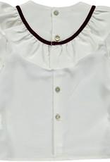 Piccola Speranza Piccola Speranzie blouse bordeaux velvet