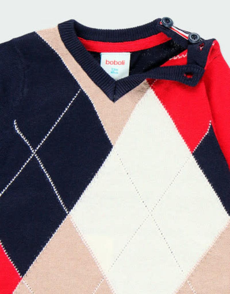 Boboli Boboli Knitwear pullover diamonds for baby boy