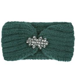 Haarband groen met glitter