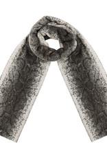 Sjaal beige slangen print