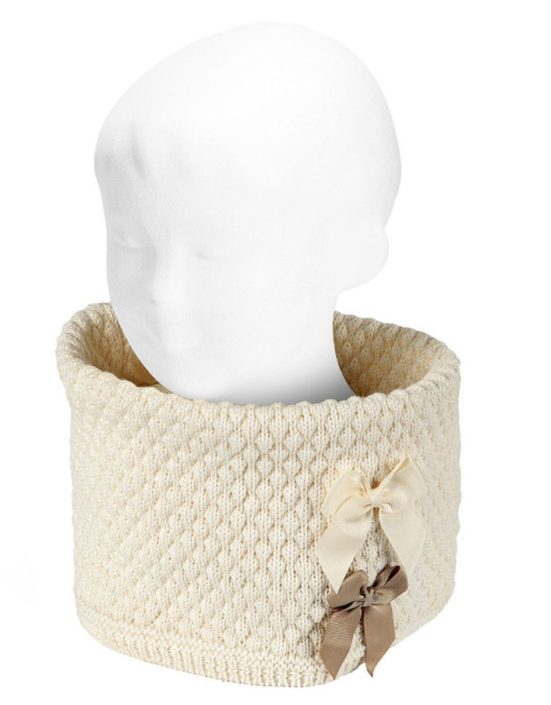Condor Condor sjaal off white met strikken