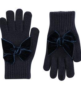 Condor Condor handschoen  donkerblauw met fluwelen strikken