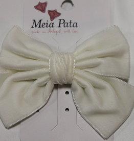 Meia Pata Meia Pata Double Velvet Hair Tie 35 Ivory