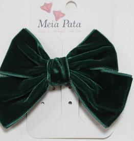 Meia Pata Meia Pata Double Velvet Hair Tie 60 Green Macon