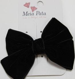 Meia Pata Meia Pata Double Velvet Hair Tie 05 Black