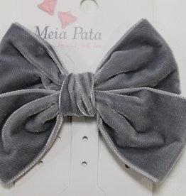 Meia Pata Meia Pata Double Velvet Hair Tie 03 Grey