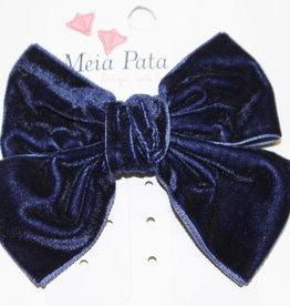 Meia Pata Meia Pata Double Velvet Hair Tie 14 Navy Blue