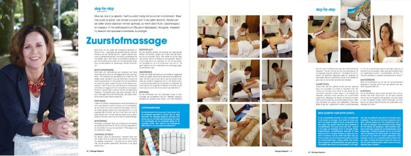 Masseren met zuurstofgel - Trendwatcher Lizet van Triet vertelt in Massage Magazine