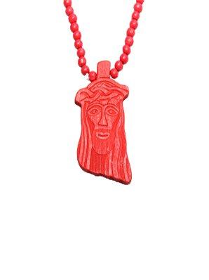 Chaîne Wood Fellas Jesús rouge