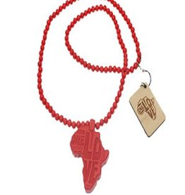 Wood Fellas Kette Africa red